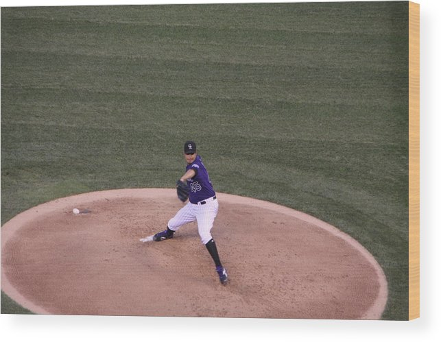 Jhoulyn Chacin Wood Print featuring the photograph Jhoulys Chacin by Cynthia Cox Cottam