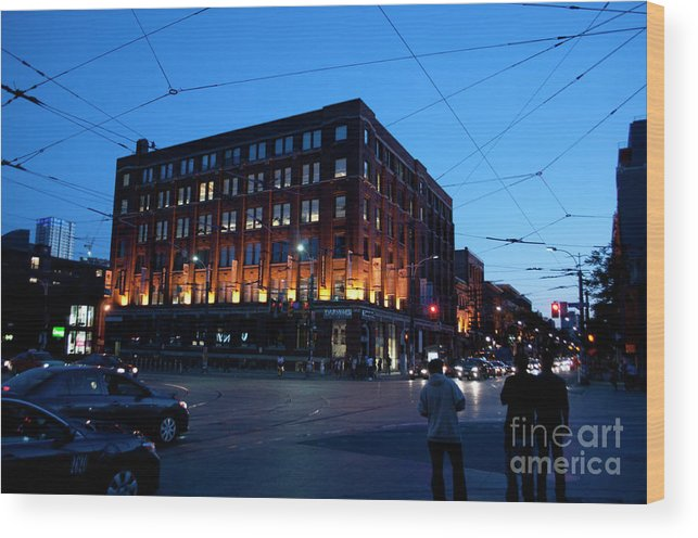 King Street Wood Print featuring the photograph King And Spadina by Gary Chapple