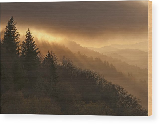 Layers Wood Print featuring the photograph Layers Of Light by Joseph Rossbach