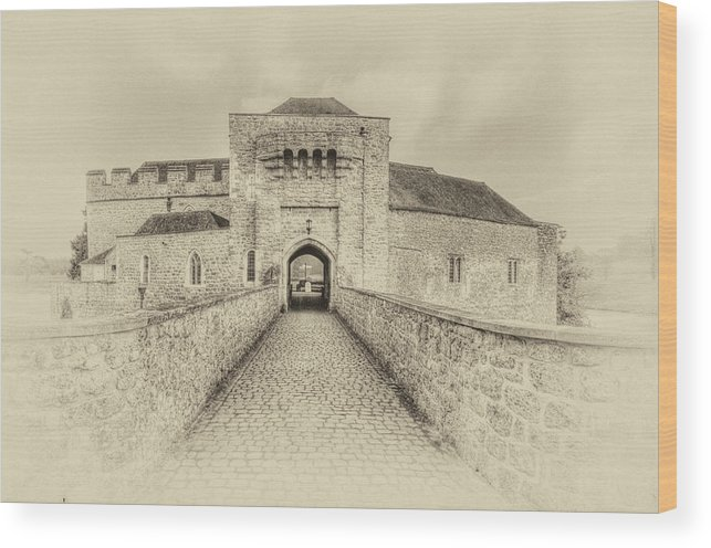 Nostalgic Wood Print featuring the photograph Leeds Castle Nostalgic 3 by Chris Thaxter