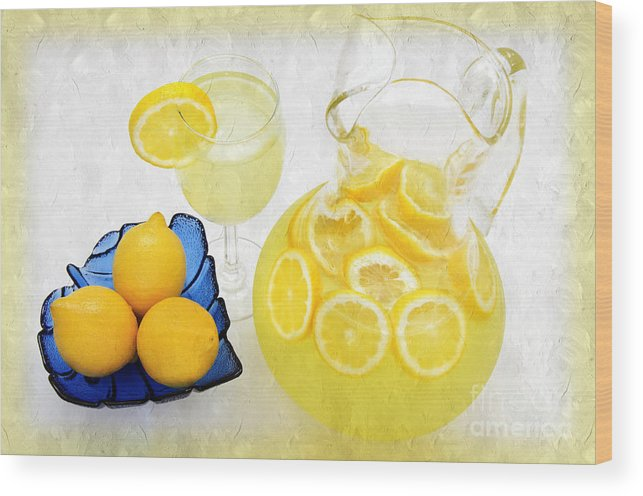 Lemonade Wood Print featuring the photograph Lemonade And Summertime by Andee Design