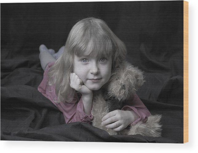 Girl Wood Print featuring the photograph Little Girl by Gord Patterson