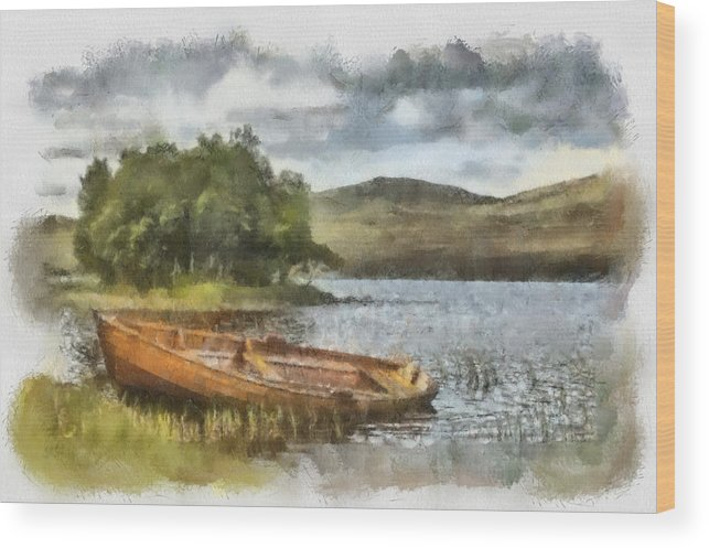 Landscape Wood Print featuring the photograph Loch Awe by Sam Smith Photography