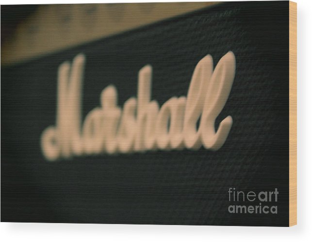 Music Wood Print featuring the photograph Marshall Amp by Derek Pisieczko
