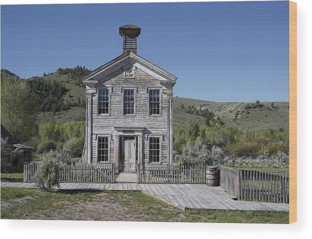 Bannack Wood Print featuring the photograph Masonic Temple 3 - Bannack Montana by Daniel Hagerman