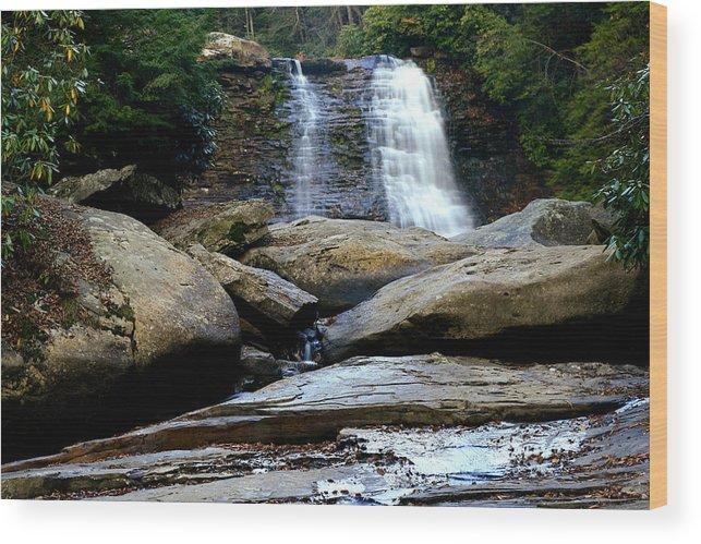 Muddy Creek Falls Wood Print featuring the photograph Muddy Creek Falls 2 by Matthew Winn