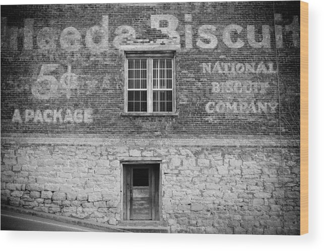 Window Wood Print featuring the photograph National Biscuit Company by Paul Bartoszek