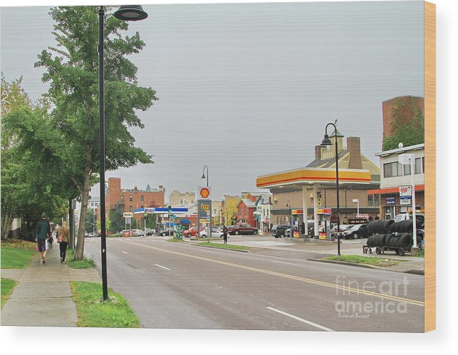 Street Life Wood Print featuring the photograph North Winooski Ave. by Deborah Benoit