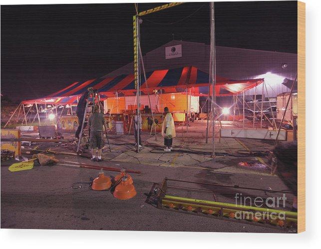 Ohio State Fair Wood Print featuring the photograph Ohio Tear Down by Diane Falk