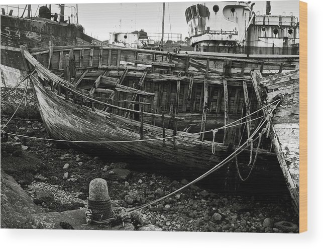 Old Wood Print featuring the photograph Old Abandoned Ship by RicardMN Photography