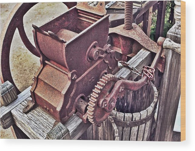 Old Apple Press Wood Print featuring the photograph Old Apple Press 3 by Bill Owen