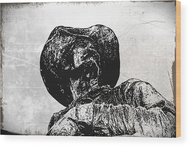 Cowboy Wood Print featuring the photograph Old Cowboy by Bill Cannon