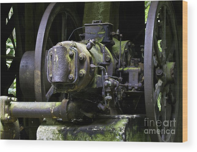 Kentucky Wood Print featuring the photograph Old Time Equipment by Ken Frischkorn