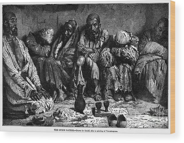 1868 Wood Print featuring the photograph Opium Addicts, 1868 by Granger