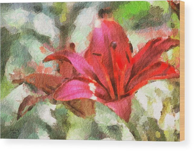 Flower Wood Print featuring the photograph Patty's Perfect Lily by Trish Tritz