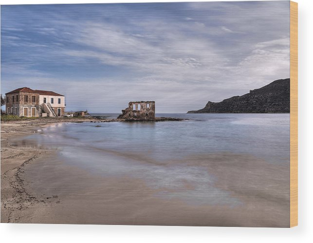 Age Wood Print featuring the photograph Plytra - Greece by Constantinos Iliopoulos