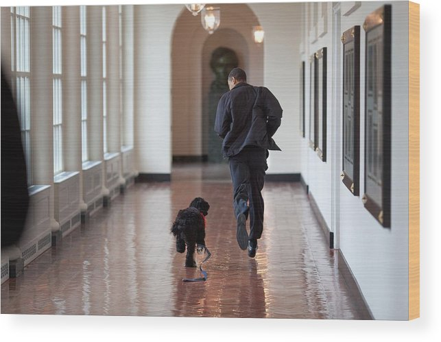 History Wood Print featuring the photograph President Barack Obama Runs by Everett