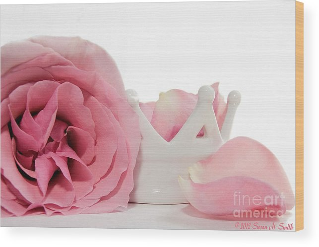 Photography Wood Print featuring the photograph Princess Petals by Susan Smith