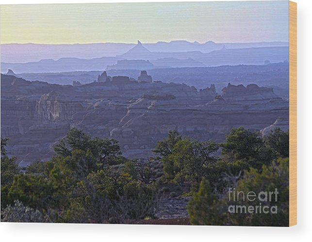 Sunrise Wood Print featuring the photograph Pulchritudinous Purple Pinnacles by Scotts Scapes