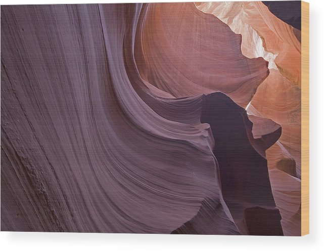 Southwest Wood Print featuring the photograph Purple Sweep by Ralph Fahringer