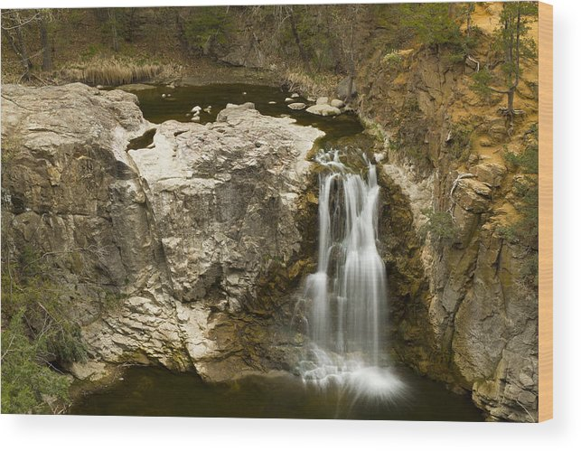 Waterfall Wood Print featuring the photograph Ramsey Falls Mn 16 by John Brueske