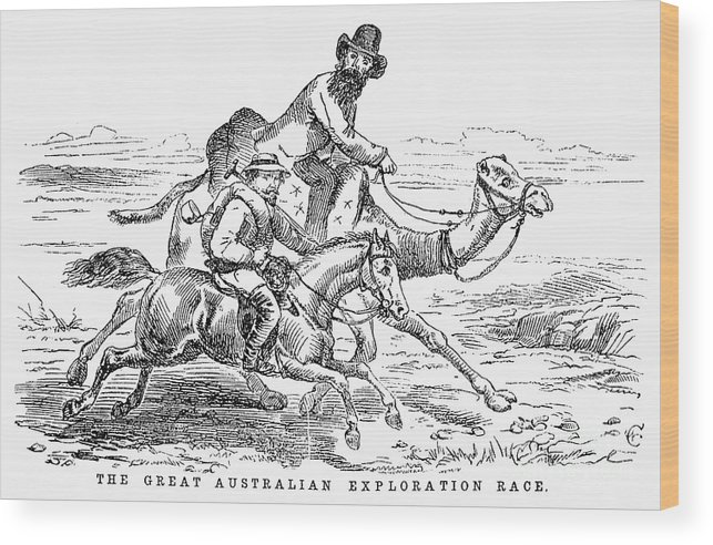 1860 Wood Print featuring the photograph Robert Ohara Burke by Granger