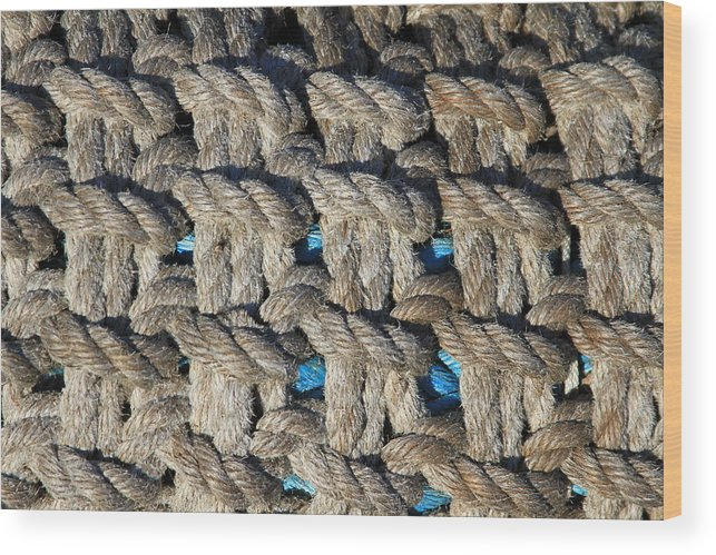 Rope Wood Print featuring the photograph Rope by Mike Stouffer