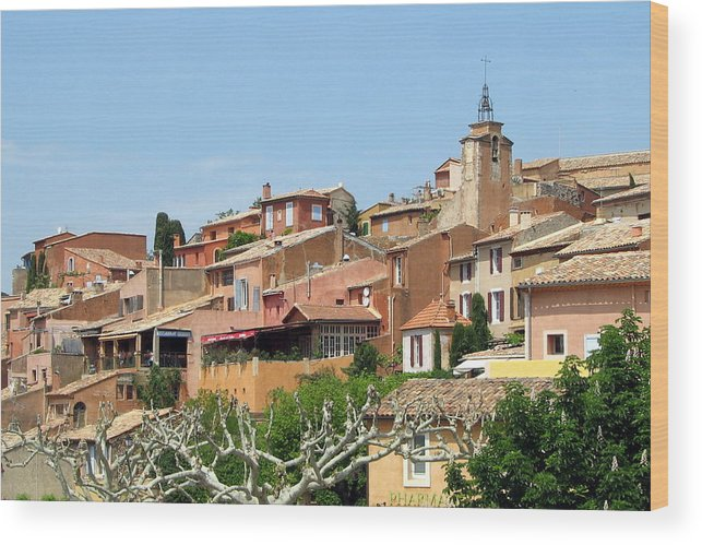Roussillon Wood Print featuring the photograph Roussillon In Provence by Carla Parris