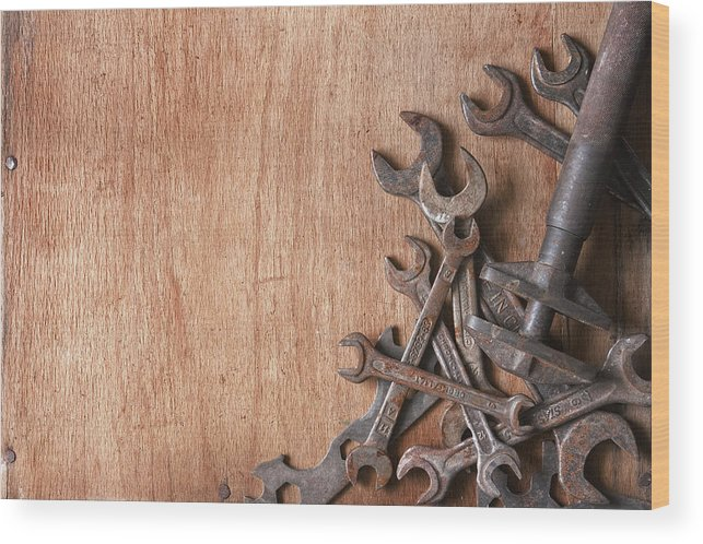 Metal Wood Print featuring the photograph Rusty Tools by Matusciac Alexandru
