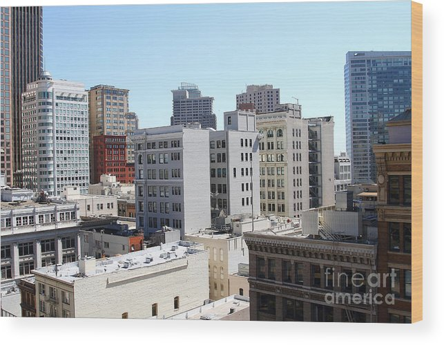 San Francisco Wood Print featuring the photograph San Francisco Skyline . 7d7490 by Wingsdomain Art and Photography