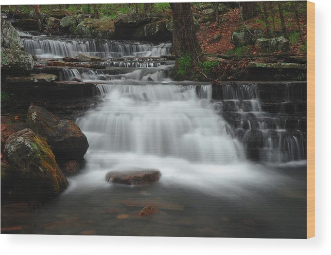 Waterfall Wood Print featuring the photograph Serenity by Renee Hardison