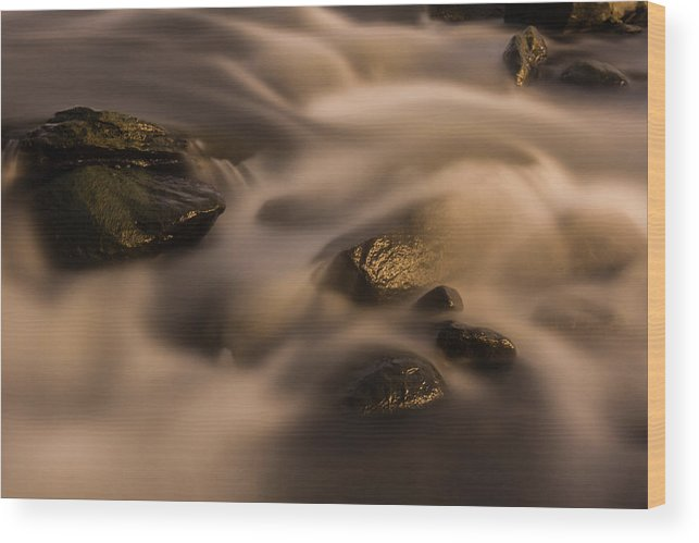 Water Wood Print featuring the photograph Smooth Rapids by Brian Parton