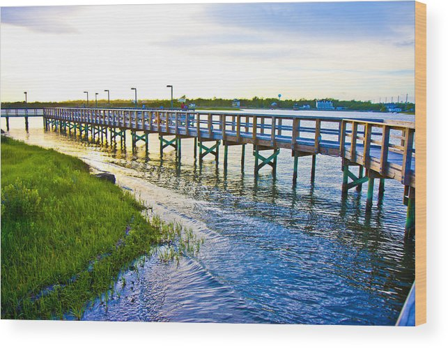 Topsail Wood Print featuring the photograph Soundside Park Surf City by Betsy Knapp
