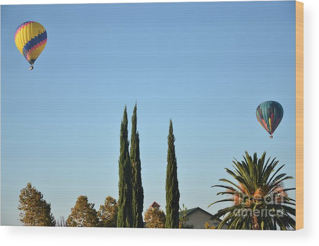 Wood Print featuring the photograph Southern California Hot Air Balloons by Timothy OLeary