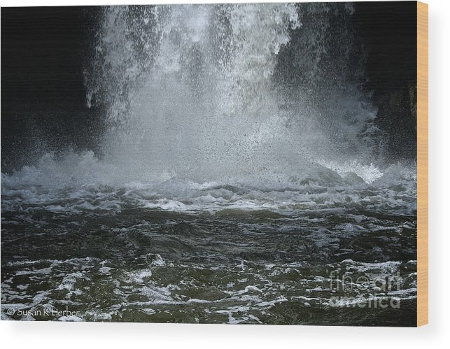 Outdoors Wood Print featuring the photograph Splash Down by Susan Herber