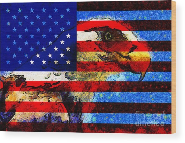 Usa Wood Print featuring the photograph Starry Nights In America . 40d6715 by Wingsdomain Art and Photography