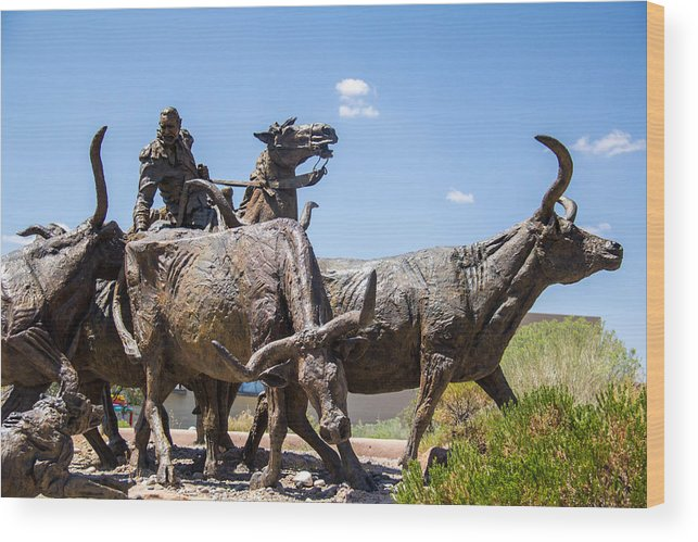 Statue Wood Print featuring the photograph Statue Outside Museum 2 by Gerry Fortuna