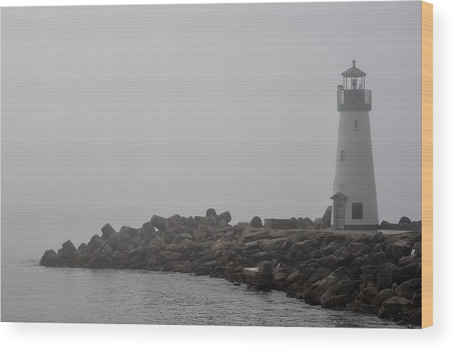 Lighthouse Wood Print featuring the photograph Still by Taylor Costello