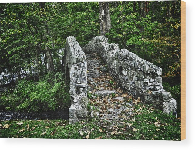 Landscapes Wood Print featuring the photograph Stone Bridge by Alise Caccese
