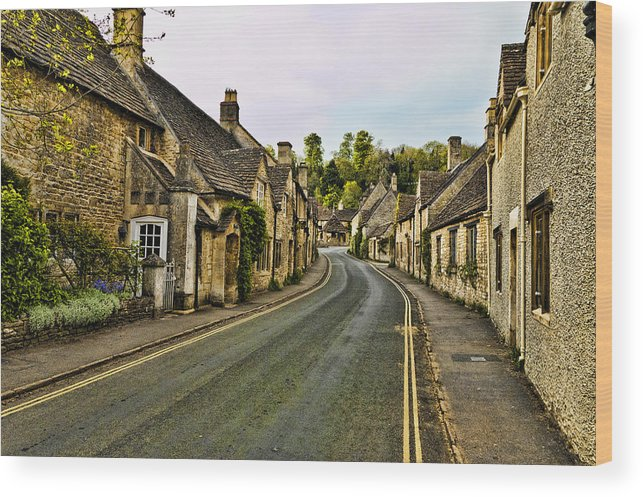 Castle Combe Wood Print featuring the photograph Street In Castle Combe by Jon Berghoff