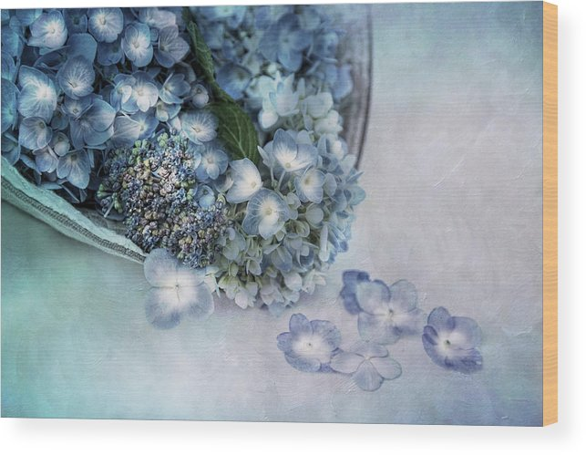 Hydrangea Wood Print featuring the photograph Summer Blues by Robin-Lee Vieira