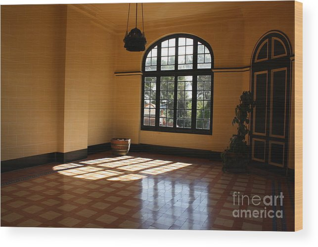 Interior Room. Wood Print featuring the photograph Sun Filled Room by Dennis Curry