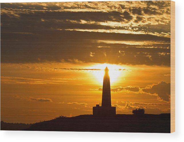Sunset Wood Print featuring the photograph Sunset Obelisk by David Freuthal