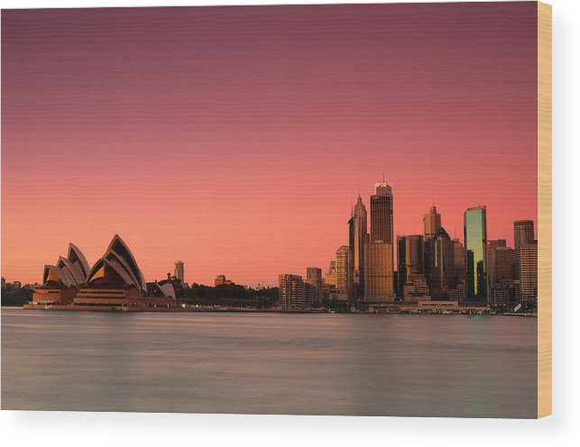 Sydney Wood Print featuring the photograph Sydney Skyline by Andre Distel
