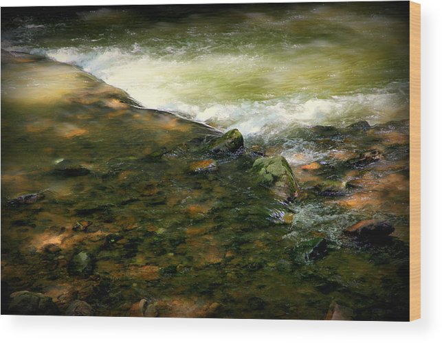 Water Wood Print featuring the photograph Beautiful River by Karen Wiles