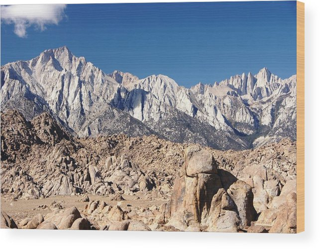 Mt. Whitney Wood Print featuring the photograph Tall by Michael Courtney