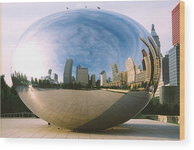Chicago Wood Print featuring the photograph The Bean by Claude Taylor