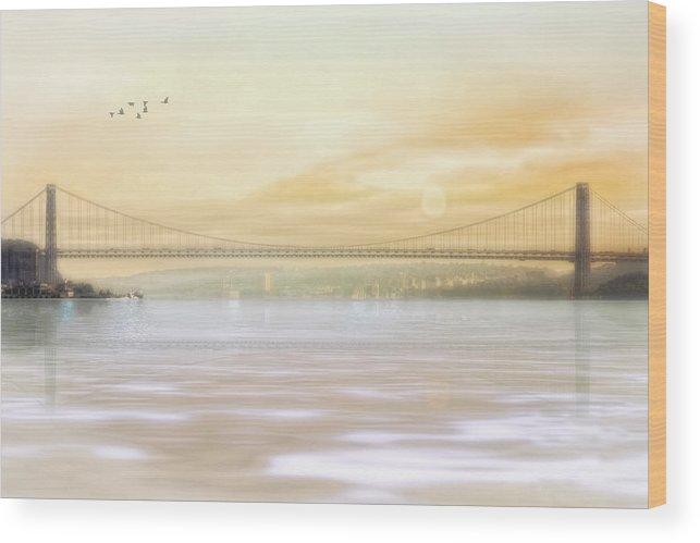 George Washington Bridge Wood Print featuring the photograph The Bridge by Tom York Images
