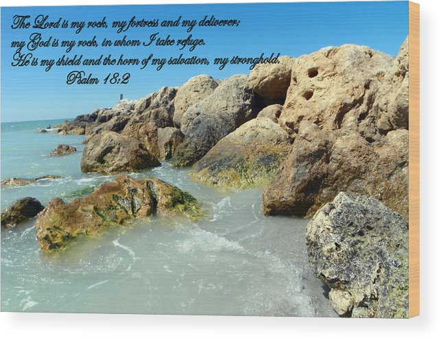 Lord Wood Print featuring the photograph The Lord Is My Rock by Sheri McLeroy
