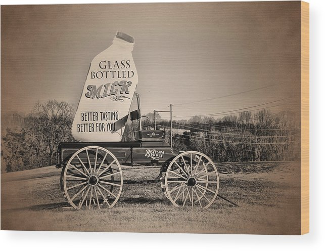 The Milk Wagon Wood Print featuring the photograph The Milk Wagon by Bill Cannon